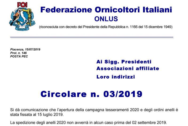 massima qualità goditi il prezzo più basso design raffinato Circolare n. 3 - 2019 - Circolari - F.O.I. FEDERAZIONE ...